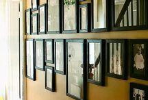 Vegg, dekor, bilder og speil
