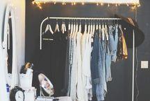 Estantes de roupas