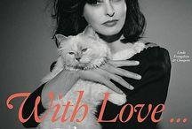 Cat covers  Covercats - Chats en couverture / cover  cats elle vogue magazine fashion  top model