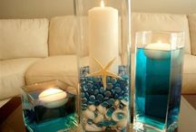 Beach wedding center pieces ideas