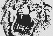 Černobílá výšivka