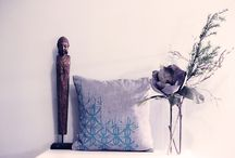 LEMPI DESIGN VINTAGE / Organic Cotton Pillow cases with Vintage inspired print by water based colors.