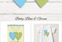 Nursery Decor Blue and Green