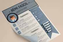 CV / Modèles de CV pour les formats: Word, Photoshop et Illustrator