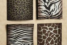 Animal prints in make up decoration