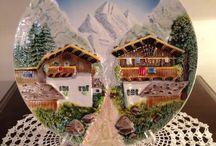 K 041 Keramik Alpen