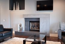 Decorative Concrete Fireplaces / Nothing creates more of a focal point in your living room than a stunning fireplace. Dress up your hearth and mantle with decorative concrete.