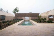 Courtyards and garden