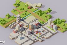 isometric lowpoly design