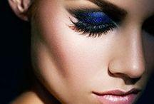 Blue and pink makeup