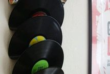 Vinyl Art / Cool art made out of vinyl records.