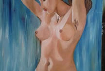 paintings of my Wife / oil paintings on canvas