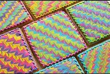 Wet on wet cookie art