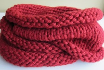 Bulky yarns cowls and scarves