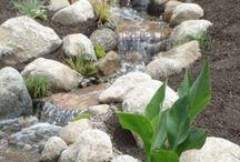 kerti tavak, csobogók, vízesések
