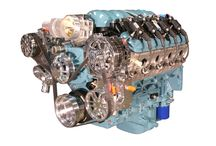 """LS3 Engine - 430HP - GTO Turquoise  / Stock LS3 Engine (430HP) with """"Show' quality options including: GTO Turquoise painted Engine Block, Valve Covers, Timing Cover, Oil Pan, & Intake Cover. C1 Billet Serpentine System works great for any Hot Rod. Are you looking for something special for your Hot Rod? Check us out at spsengines.com."""