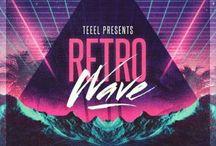 Retrowave / Retro. Purple. Neon