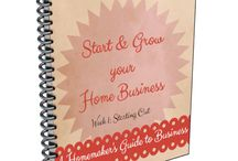 Start and Grow your Home Business / A popular resource for mompreneurs who want to start and grow a home business; a 6-week e-workbook  home business advice | work at home tips | start a home business in six weeks | grow a home business