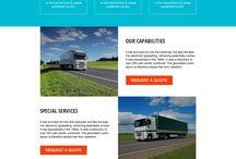 transportation landing page design