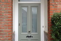 Front doors / Frosted front door farrow and ball