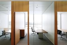 office glass partitions with solid doors