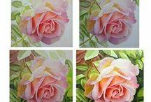 #Цветы, МК, акварель