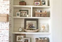 Farmhouse Bookshelves