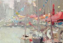 Boating paintings