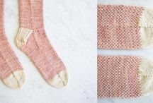 Socks / Socks of course. Knitted with needles, knitted on a loom, crocheted. Long, short, men or womens.