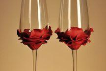 esküvői poharak