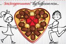 Sevgililer Günü Çikolataları / Sevgililer Günü, 14 Şubata Özel Çikolata Çeşitleri ve Sevgilinize En Güzel Hediye Çikolata, Pasta ve Şekerler Sekercity.com'da.  Kargo ve İstanbul Aynı Gün Teslim Seçenekleriyle.