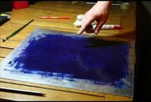 Dying and painting fabric
