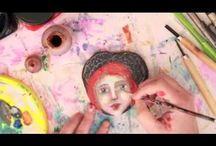 Art Lessons Online ~ 'Curious Creatives Living Artfully' / Join us as a paid member in the private Facebook group 'Curious Creatives Living Artfully' where you will receive fortnightly mini video tutorials in a range of mixed media techniques and approaches to help you live life artfully.