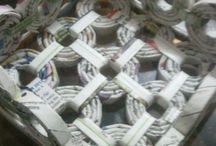 Bacchette di carta riciclata