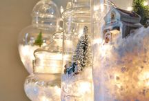 Christmas jars windows