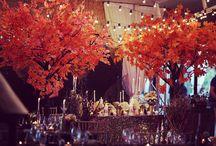 Осенняя Свадьба с искусственными деревьями,Autumn Wedding with artificial trees / Искусственные деревья, свадебный декор, свадьба, осенняя свадьба, деревья