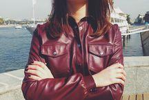 Leather look / Уличные луки Lisetskaya -  кожа, шёлк и авторские  3D принты этой осенью
