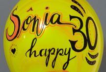 lettering ballons