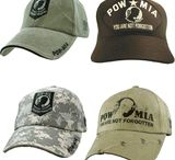 POW MIA Caps & Hats / POW MIA Caps & Hats Prisoner of War and Missing In Action remembrance items.  You can see these and get them at http://www.priorservice.com/powmiacaps.html
