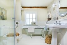 Nautical Bathroom / This charming bathroom refurbishment features Aston Matthews fittings to create a nautical theme