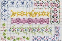 Cross Stitch Flower and Bordure 2