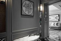 neoclassic house interior
