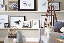 Picture Ledges / Picture Ledges | Picture ledge wall decor inspiration | 247Blinds.co.uk