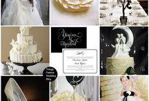 Gervasi black ivory gold wedding