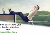 Checks360 OpenWorld / Checks360 is a leading technology platform for background screening companies to automate their entire employee verification operations