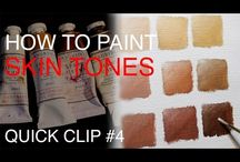 Painting Techniques and DIY Artist Studio / FREE for artists of all levels, Colour mixing, DIY Studio, wet on wet painting techniques, canvas stretching and more! by Andrew Tischler