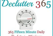 Declutter 365 / Get rid of your clutter 15 minutes at a time, with a daily decluttering mission 365 days a year. Each day I provide a 15 minute mission to help you get in the habit of decluttering, and to make sure you don't forget any major areas of your home. At the end of the year you'll have a clutter free home and have developed the habits necessary to keep it that way from now on.