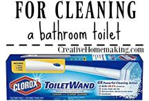 Bathroom Cleaning Hacks / Here you will find expert tips and hacks for cleaning bathroom toilets, tubs, showers, floors, sinks, and more! Find out how to remove hard water stains from shower doors, remove soap scum and mold and mildew from your tub and sink, and more. Many of these tips use everyday household products like baking soda and vinegar.