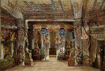 Bühnenbildmodelle / Bühnenbildmodelle aus dem 19. und frühen 20. Jahrhundert.