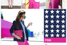 COLOR COMBO: NAVY + PINK